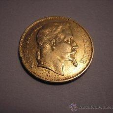 Monedas antiguas de Europa: 20 FRANCOS DE ORO DE FRANCIA DE 1869 BB.EMPERADOR NAPOLEÓN III. Lote 33403485
