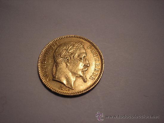 20 FRANCOS DE ORO DE FRANCIA DE 1861 BB.EMPERADOR NAPOLEÓN III (Numismática - Extranjeras - Europa)