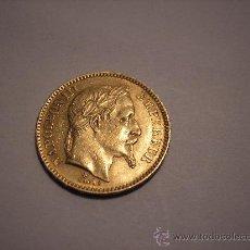 Monedas antiguas de Europa: 20 FRANCOS DE ORO DE FRANCIA DE 1861 BB.EMPERADOR NAPOLEÓN III. Lote 33403543