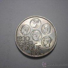 Monedas antiguas de Europa: 500 FRANCOS BELGAS DE PLATA DE 1980. CONMEMORATIVA DE LA INDEPENDENCIA. Lote 33559158
