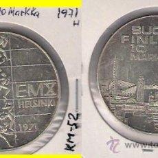 Monedas antiguas de Europa: ME650-FINLANDIA. 10 MARCOS. 1971. PLATA. EBC+ (CAMPEONATO EUROPEO DE ATLETISMO DE 1971).. Lote 33767249
