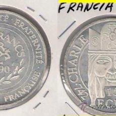Monedas antiguas de Europa: ME658-FRANCIA. 100 FRANCOS Ó 15 ECUS. 1990. PLATA. PROOF (CARLOMAGNO).. Lote 33823599