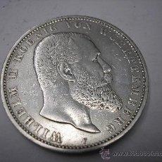 Monedas antiguas de Europa: 5 MARCOS DE PLATA DE 1907 F. REY GUILLERMO II DE WUERTTENBERG. Lote 33949447