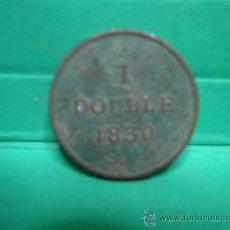 Monedas antiguas de Europa: GUERNSEY 1 DOUBLE 1830. Lote 34263355