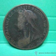 Monedas antiguas de Europa: ONE PENNY 1900. Lote 34268320