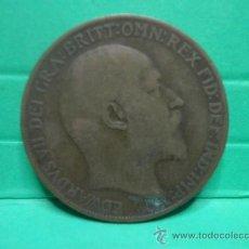 Monedas antiguas de Europa: ONE PENNY 1908 EDUARDO VII. Lote 34268342