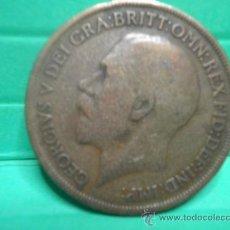 Monedas antiguas de Europa: ONE PENNY 1913 GEORGE V. Lote 34268429
