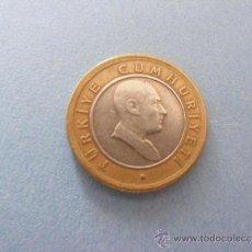 Monedas antiguas de Europa: 1 ANTIGUA MONEDA AÑO 2005 - TURKIA - 50 KURUS. Lote 34220356