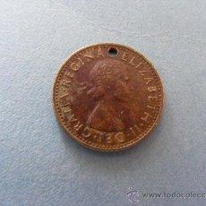 Monedas antiguas de Europa: 1 ANTIGUA MONEDA AÑO 1966 - REINO UNIDO - 6 PENIQUES ( RARO EJEMPLAR - CON AGUJERO ). Lote 34220580