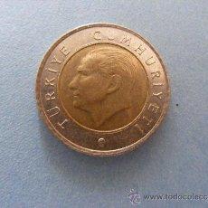Monedas antiguas de Europa: 1 ANTIGUA MONEDA AÑO 2009 - TURQUIA - 50 KURUS. Lote 34223761
