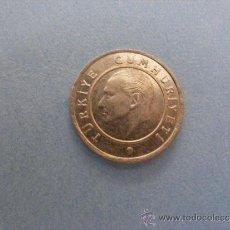 Monedas antiguas de Europa: 1 ANTIGUA MONEDA AÑO 2009 - TURQUIA - 25 KURUS. Lote 34233654
