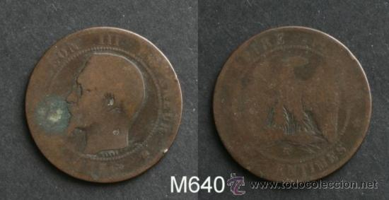 MONEDA DE NAPOLEON III - 10 CENTIMOS - 1856