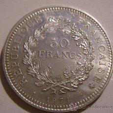 Monedas antiguas de Europa: 50 FRANCOS PLATA, FRANCIA AÑO 1974, 30 GRS.. Lote 34411331