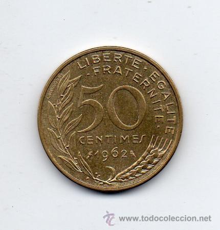 FRANCIA. 50 CÉNTIMOS. AÑO 1962. (Numismática - Extranjeras - Europa)