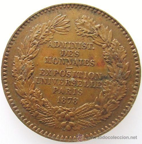 Monedas antiguas de Europa: MUY BONITO France FRANCIA Jeton 1878 Paris LOTE 2 - Foto 2 - 34467908