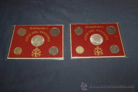 LOTE DE 2 SERIES DE CIUDAD DEL VATICANO. COMPLETAS. (Numismática - Extranjeras - Europa)