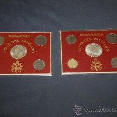 Monedas antiguas de Europa: LOTE DE 2 SERIES DE CIUDAD DEL VATICANO. COMPLETAS.. Lote 34675370