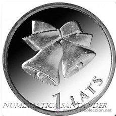 Monedas antiguas de Europa: LETONIA 2012 1 LATS CAMPANAS DE NAVIDAD. Lote 133312069