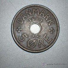 Monedas antiguas de Europa: DINAMARCA 5 ORE 1928 (2141). Lote 35560287