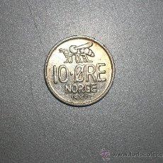 Monedas antiguas de Europa: NORUEGA 10 ORE 1972 (1854). Lote 128631560