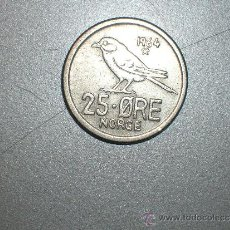 Monedas antiguas de Europa: NORUEGA 25 ORE 1964 (1979). Lote 128631567