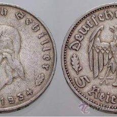 Monedas antiguas de Europa: 5 REICHSMARK DE PLATA ANIV. SCHILLER MUY ESCASA. Lote 35851173