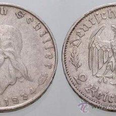 Monedas antiguas de Europa: 2 REICHSMARK DE PLATA ANIV.SCHILLER 1934. Lote 35851203