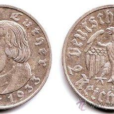 Monedas antiguas de Europa: 2 REICHSMARK DE PLATA MARTIN LUTHER 1933. Lote 35851257