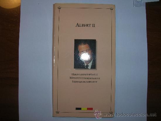 BÉLGICA CARTERA MEDALLA BRONCE ALBERTO II (4668) (Numismática - Extranjeras - Europa)