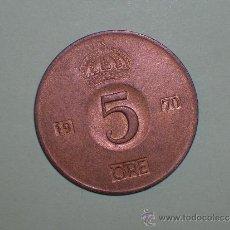 Monedas antiguas de Europa: SUECIA 5 ORE 1970 (3430. Lote 128631840