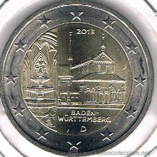 Monedas antiguas de Europa: MONEDA CONMEMORATIVA DE 2 €, ALEMANIA 2013. MONASTERIO DE MAULBRONN. Lote 58688097
