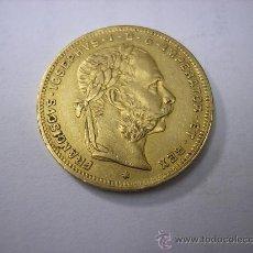 Monedas antiguas de Europa: 8 FLORINES =20 FRANCOS DE ORO DE 1890. EMPERADOR FRANCISCO JOSÉ. Lote 36292741