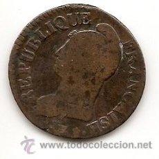 Monedas antiguas de Europa: FRANCIA: REVOLUCIÓN FRANCESA. 5 CÉNTIMOS AÑO 8. Lote 36412486