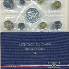 Monedas antiguas de Europa: FRANCIA SERIE MONEDAS 1974 EN ESTUCHE S/C. Lote 36481585