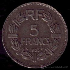 Monedas antiguas de Europa: 5 FRANCOS FRANCESES 1933. Lote 36547078