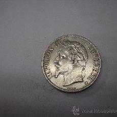 Monedas antiguas de Europa: 5 FRANCOS DE PLATA DE 1868 BB. EMPERADOR DE FRANCIA NAPOLEÓN III. Lote 36886348