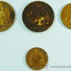 Monedas antiguas de Europa: 4 MONEDAS FICHAS DE LAS CHAMBRES DE COMMERCE DE FRANCIA.. Lote 37123716