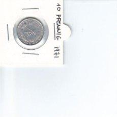 Monedas antiguas de Europa: DDR ALEMANIA DEMOCRATICA 10 PFENNIG 1971 . Lote 37265042
