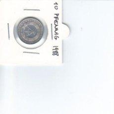 Monedas antiguas de Europa: DDR ALEMANIA DEMOCRATICA 10 PFENNIG 1988. Lote 37265086