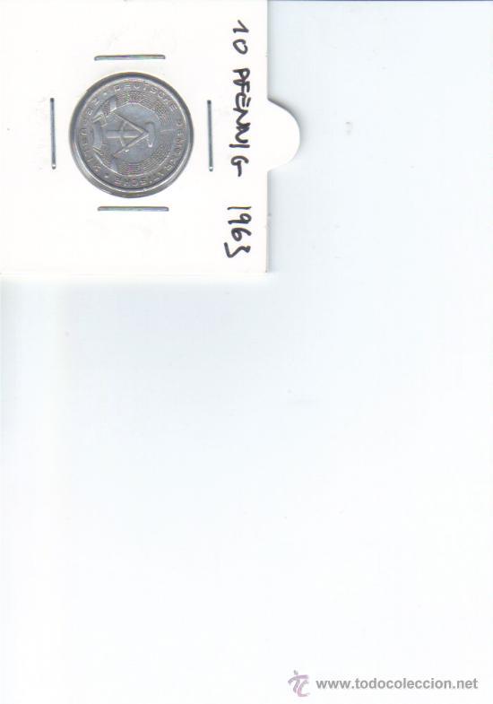 DDR ALEMANIA DEMOCRATICA 10 PFENNIG 1963 (Numismática - Extranjeras - Europa)