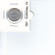Monedas antiguas de Europa: DDR ALEMANIA DEMOCRATICA 10 PFENNIG 1981. Lote 37265433