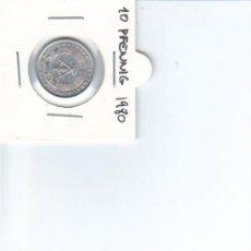Monedas antiguas de Europa: DDR ALEMANIA DEMOCRATICA 10 PFENNIG 1980. Lote 37265552