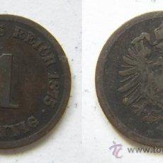 Monedas antiguas de Europa: ALEMANIA 1 PFENING 1875 SEGUNDO REICH. Lote 37302226