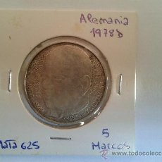 Monedas antiguas de Europa: MONEDA - ALEMANIA - 5 MARCOS - PLATA - GUSTAV STRESEMANN - 1978 D - EBC. Lote 37329631