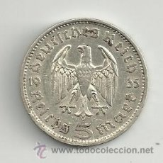 Monedas antiguas de Europa: VENDO MONEDA 5 REICHSMARK 1935F (ALEMANIA ). Lote 37447436