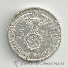 Monedas antiguas de Europa: VENDO MONEDA 5 REICHSMARK 1938G (ALEMANIA ). Lote 37447800