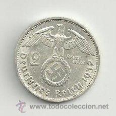 Monedas antiguas de Europa: VENDO MONEDA 2 REICHSMARK 1937F (ALEMANIA ). Lote 37448690