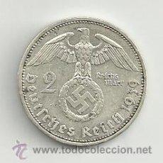 Monedas antiguas de Europa: VENDO MONEDA 2 REICHSMARK 1939A (ALEMANIA ). Lote 37448729