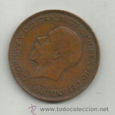 Monedas antiguas de Europa: INGLATERRA GEORGIUS V - ONE PENNY- AÑO 1936. Lote 37505527