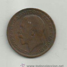 Monedas antiguas de Europa: INGLATERRA GEORGIUS V - ONE PENNY - AÑO 1917. Lote 37505559